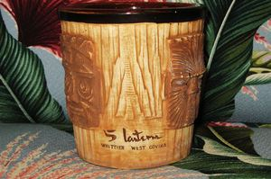 A Tike style mug from The Five Lanterns Chinese Restaurant. I broke quite a few of these one night in December, 1965.