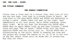 French Connection Script